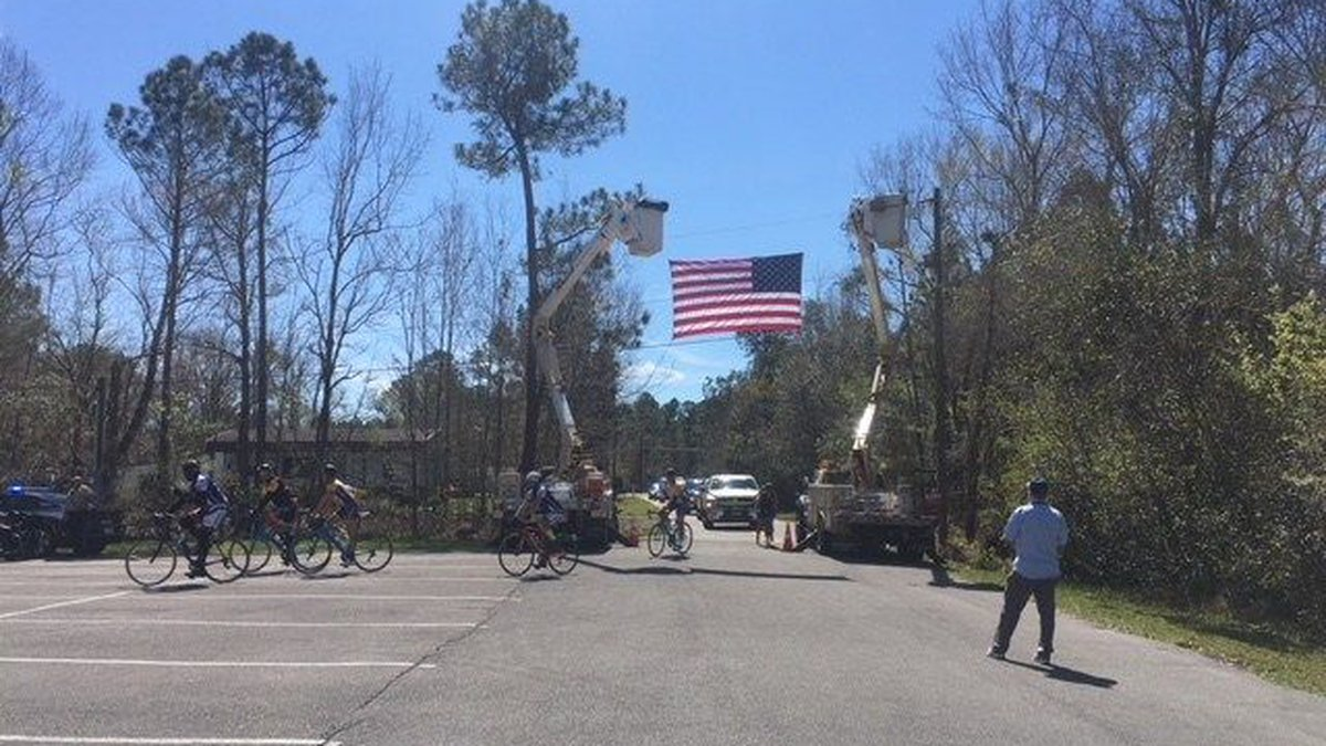 More than 100 cyclists participate in 'Ride 2 Recovery.' They made a stop in Gautier Friday....