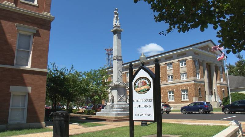 The Confederate statue was donated to the county in 1910