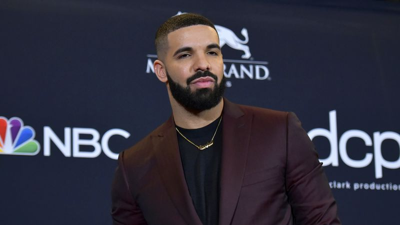 FILE - This May 1, 2019 file photo shows Drake at the Billboard Music Awards in Las Vegas....