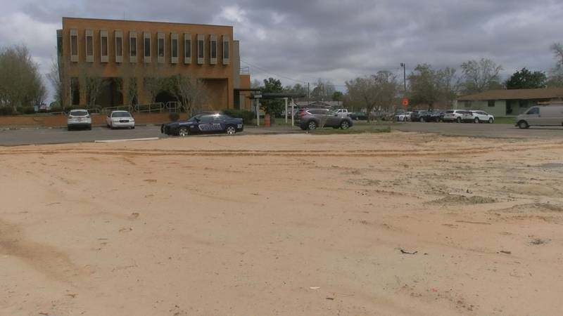 This lot just west of Bay St. Louis City Hall is one of two sites being considered for a new...