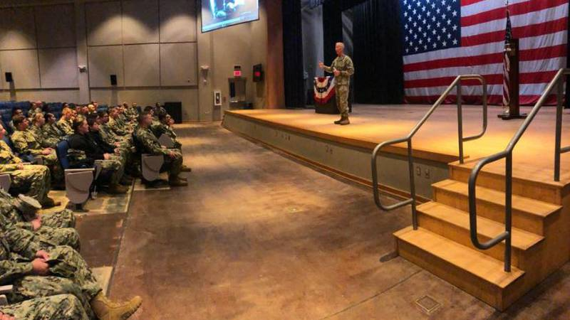 Captain Bill Whitmire leads ceremony commemorating 100th anniversary of Armistice Day