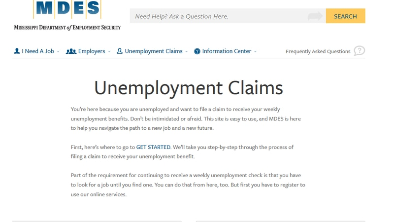 Unemployment Claims on the rise in MS and the US