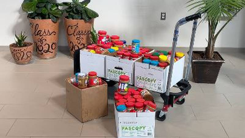 Gulfport School District collects 2 tons of peanut butter for coast food pantries