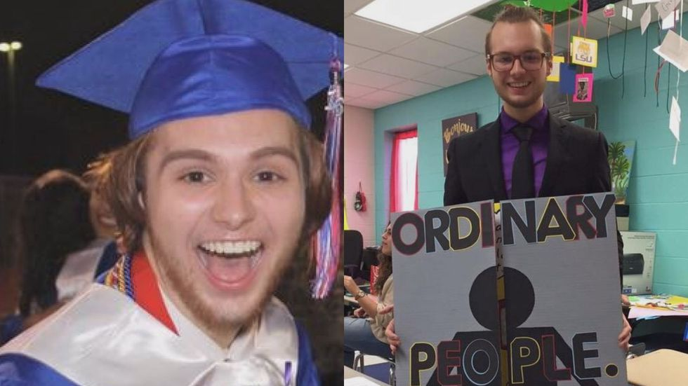 Trevor Ladner, pictured left at his graduation from Hancock High in 2016, said he was often the...