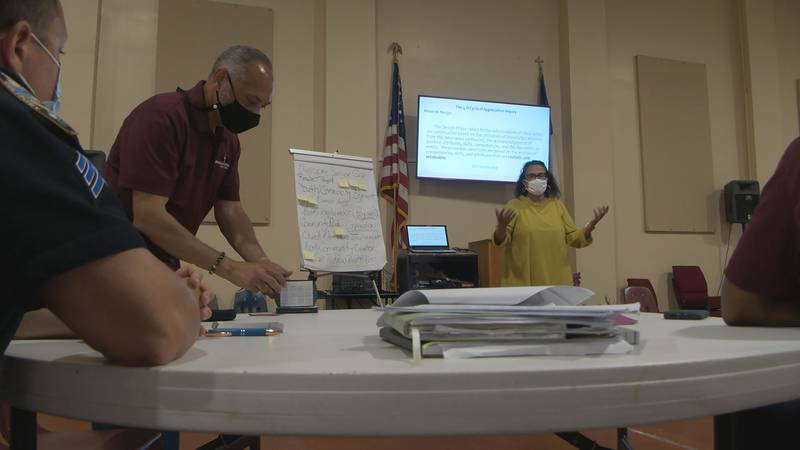 Morning Star Baptist Church invited people inside for the first-ever neighborhood watch meeting...