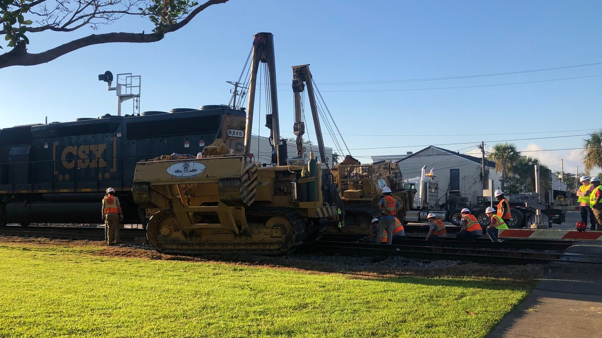The tracks at the Pascagoula Street crossing in downtown Pascagoula are passable once again...