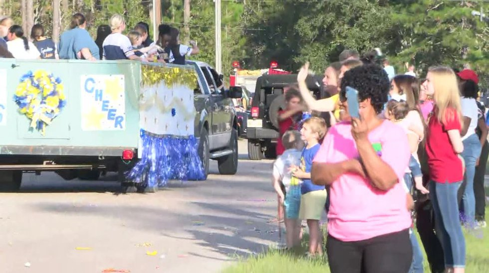 Gautier High held its first homecoming parade in two years on Thursday, marking a return to...