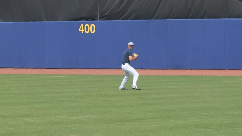 Ethan Small gets loose in center field of MGM Park