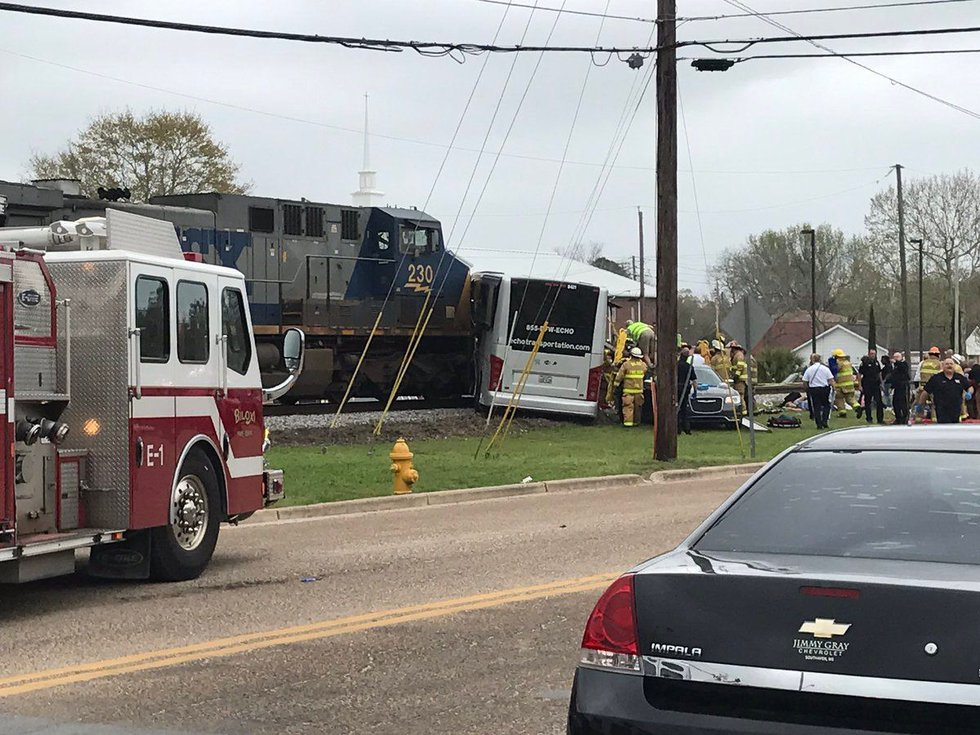 The crash happened at Main Street in Biloxi. (Photo source: WLOX News)