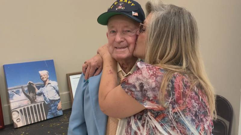 World War II Veteran Talmage Byrd celebrated his 100th birthday with close friends and family...