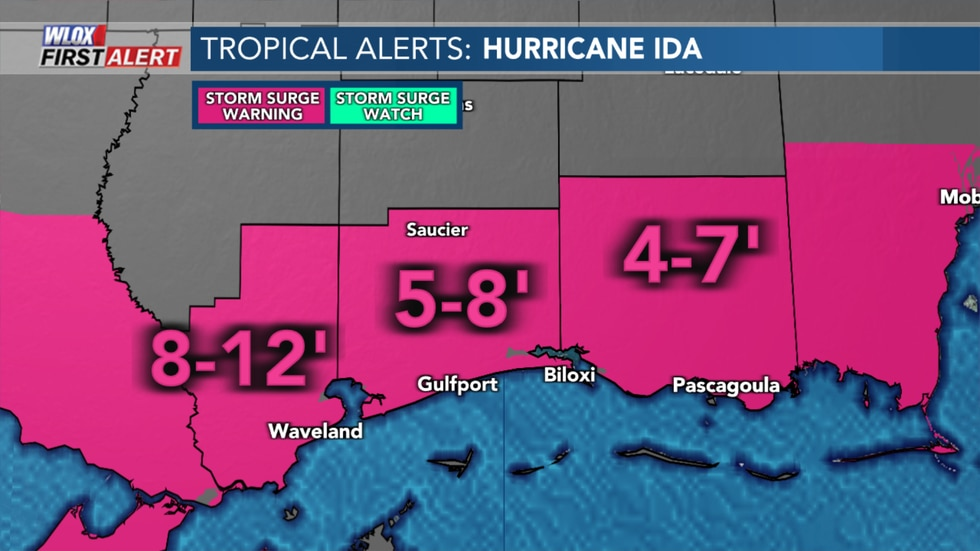 Storm Surge Potential From Hurricane Ida