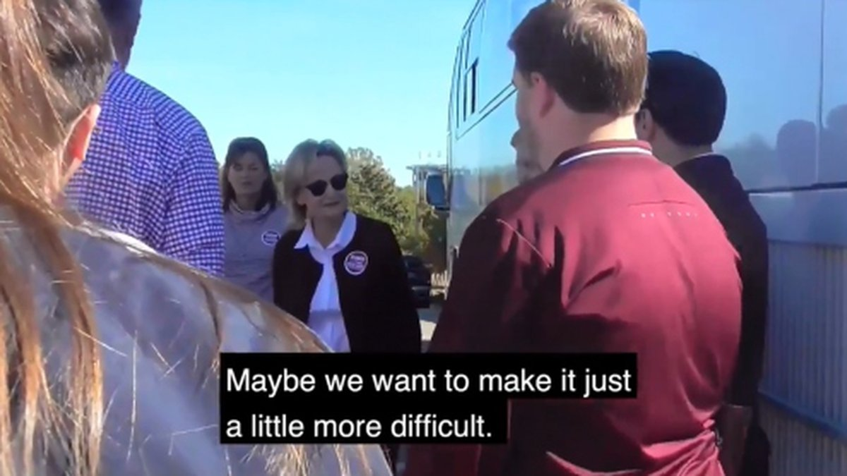 A second controversial video of Sen. Cindy Hyde-Smith has surfaced. Source: Twitter