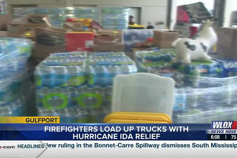 After about 10 days of donations, South Mississippians managed to gather 32 pallets worth of...