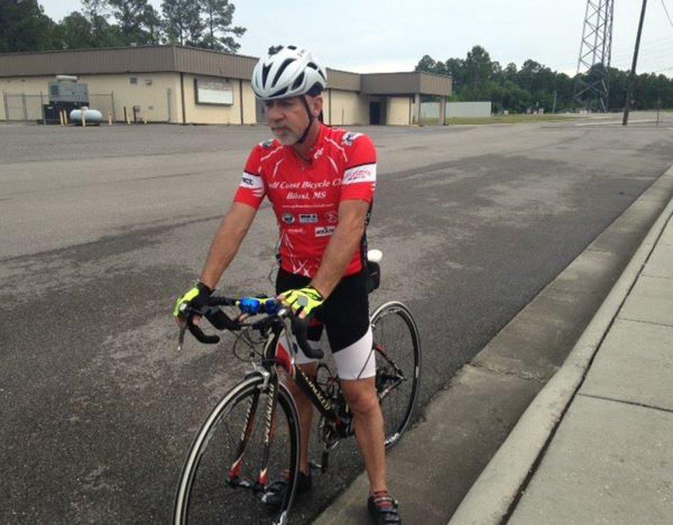 Doug Heller hopes to see a bike lane that spans the coast (Image Source: WLOX News)