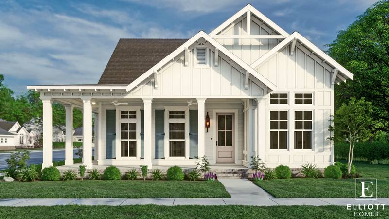 Elliott Homes built the 2,600 square feet, four bedroom, two and a half bathroom Dream Home....