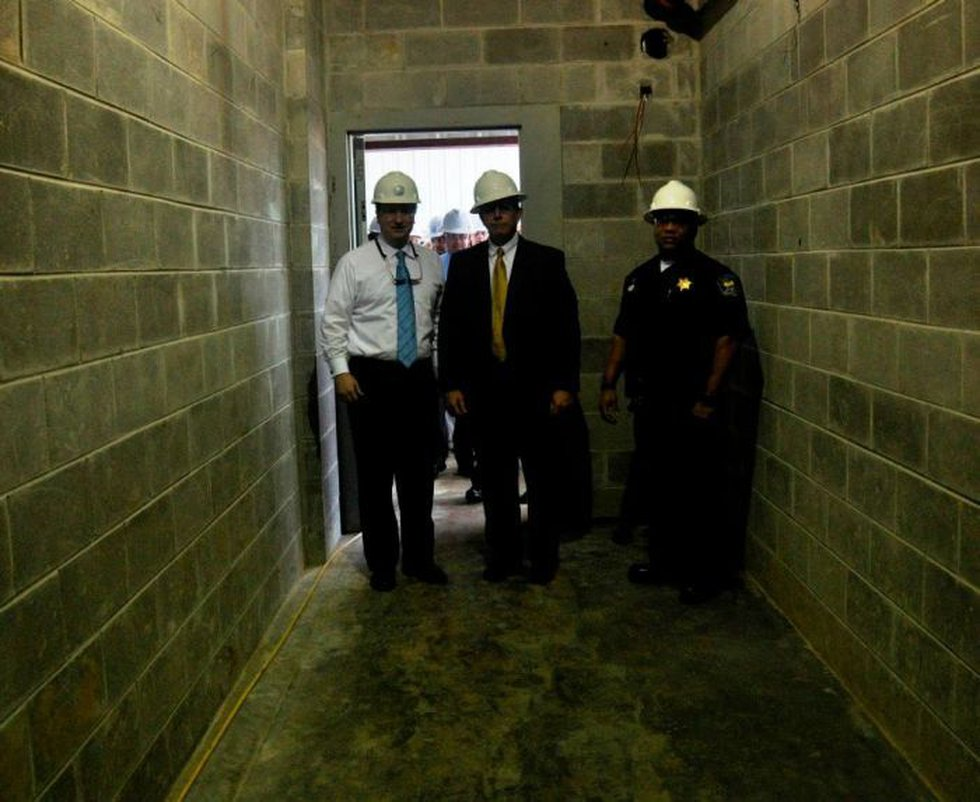 Construction on the new adult detention center is expected to be finished by September. (Photo...