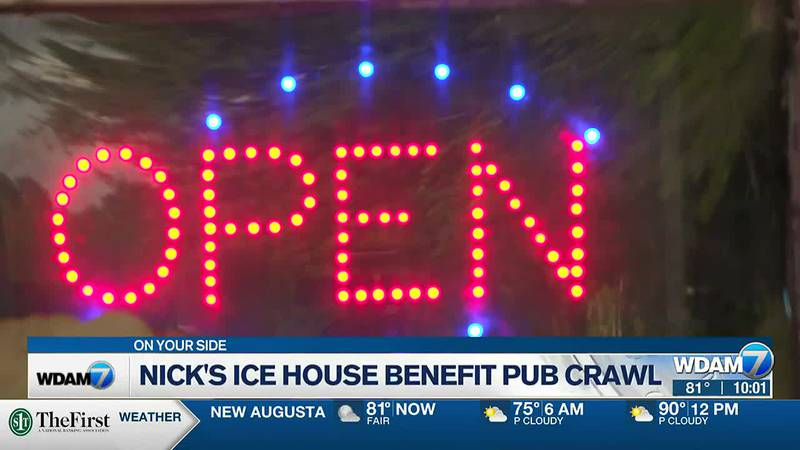 Five Hub City establishments came together in a fund-raising effort for Nick's Ice House.