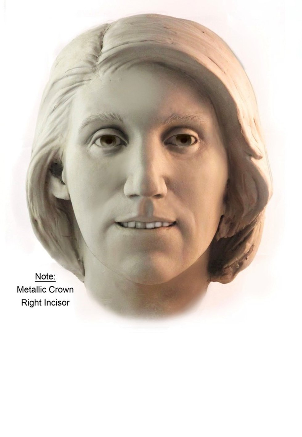 In 2012, cold case investigators uploaded this image of Vancleave's Jane Doe to NamUS, a...