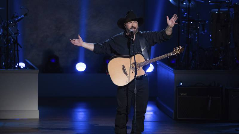 In this March 4, 2020, file photo, country star Garth Brooks performs on stage during the 2020...