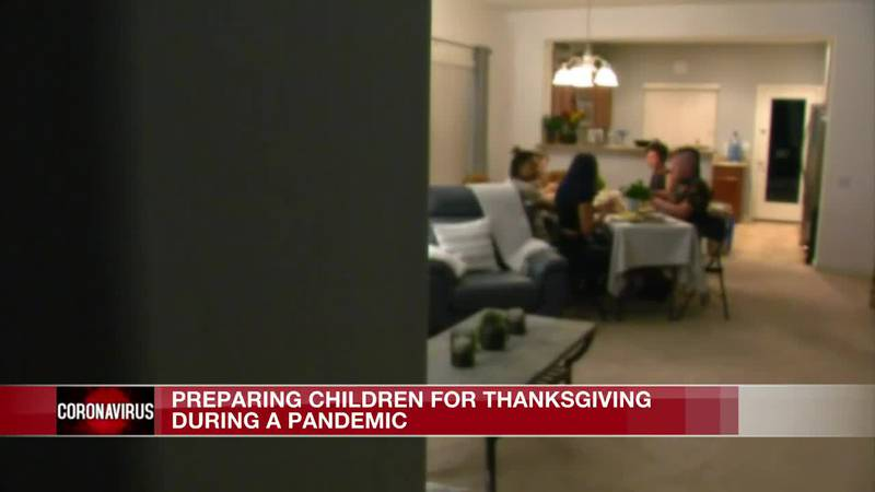 Preparing children for Thanksgiving during a pandemic