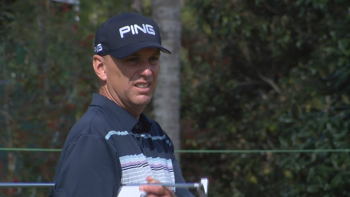 Kevin Sutherland finished tied with Marco Dawson atop the leaderboard at -7 after round one of...