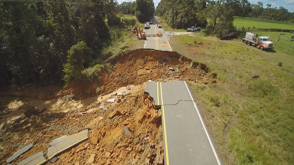 Hwy. 26 collapsed Aug. 30 following heavy rains from Ida. Two people were killed and  10 others...