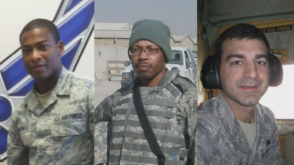 Larry McDonald, left, Joshua Powell, center, and Sean Delcambre all worked for the 403rd...
