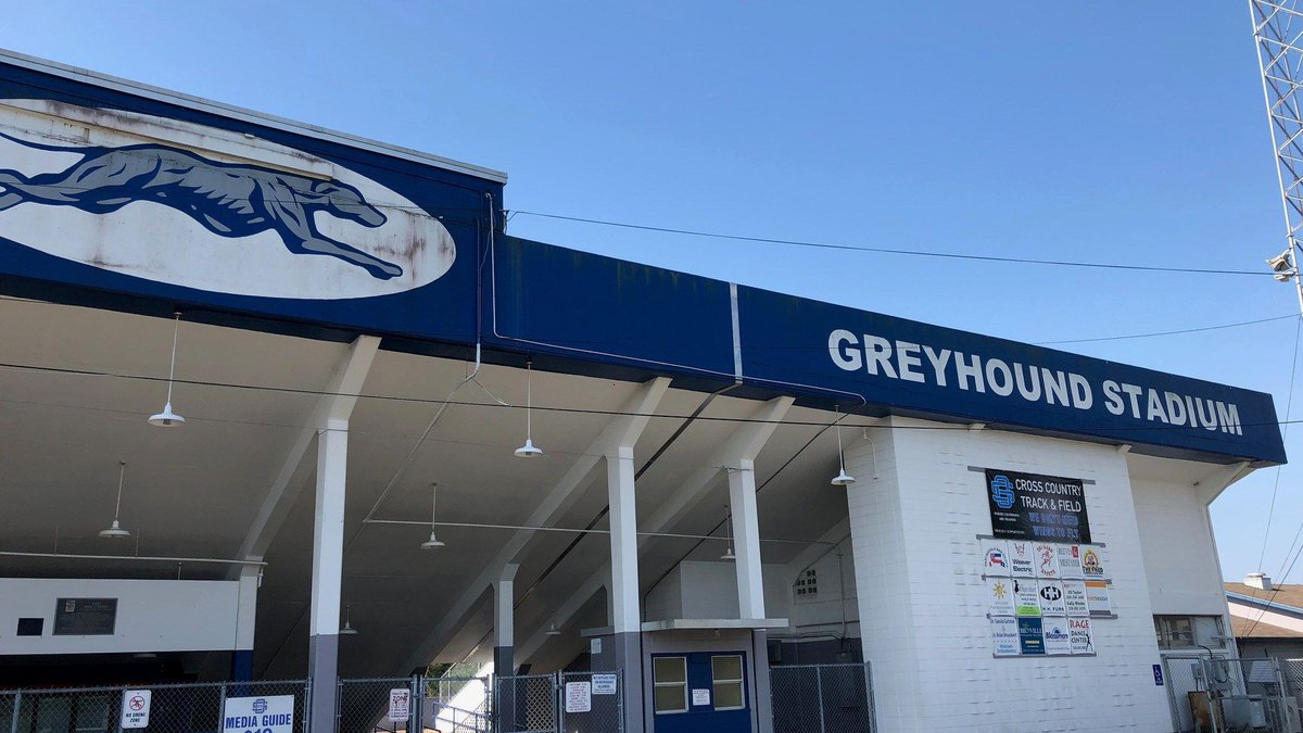 School district officials say the Greyhound Stadium in Ocean Springs has seen better days....