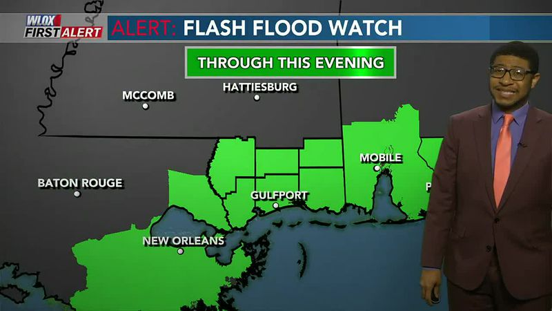 Watch out for flooding on Tuesday. Numerous showers expected today. And the ground is so soaked...