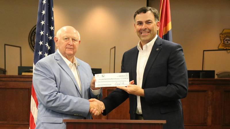 The $11,226,497 check was the second-highest tidelands transfer since 1997.