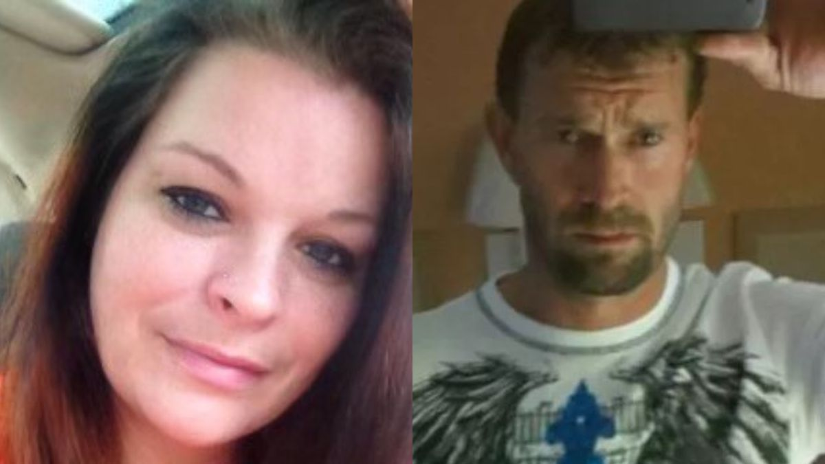 Cassie Bowman, pictured left, and Jason Stone, right, were killed after police say a truck...