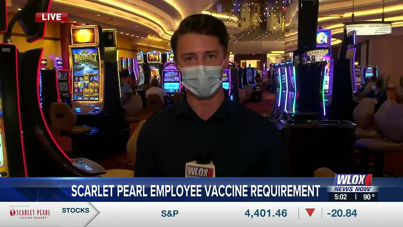 Scarlet Pearl employees are now mandated to have at least one shot of the COVID-19 vaccine,...