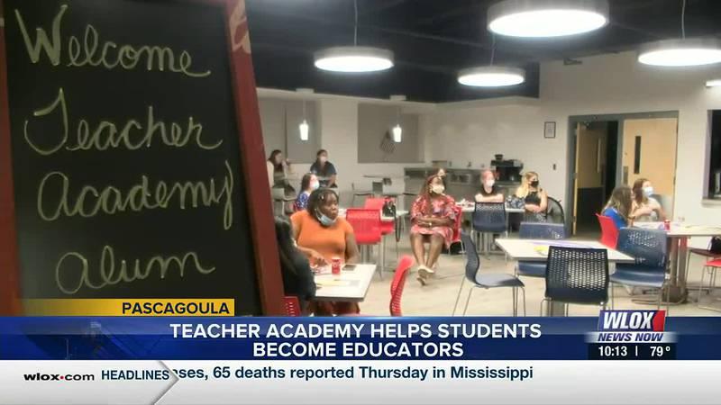 The Pascagoula-Gautier School District's Teacher Academy is partnering with local universities...