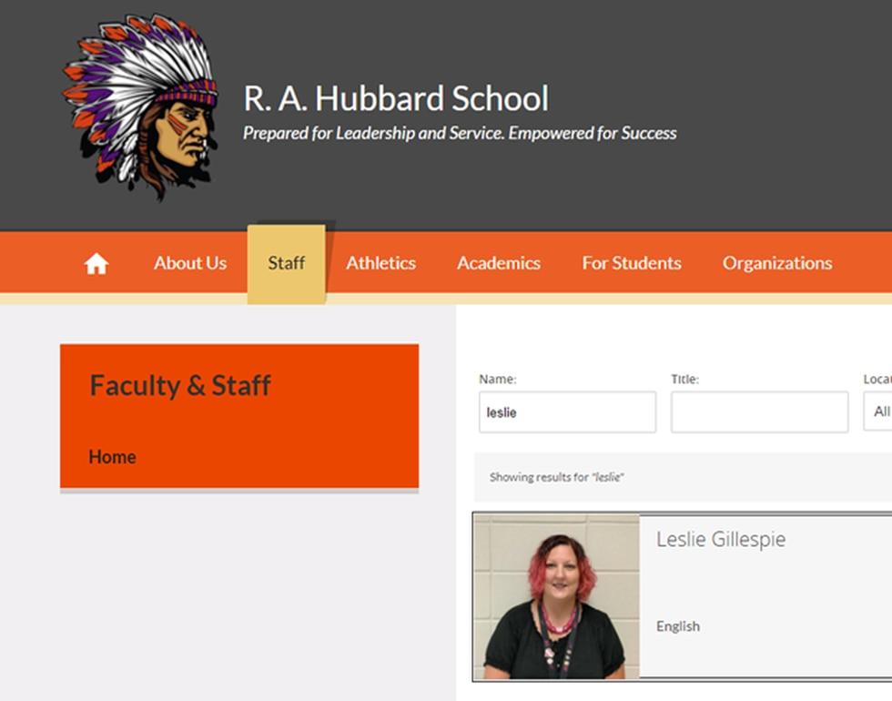 R. A. Hubbard faculty listing