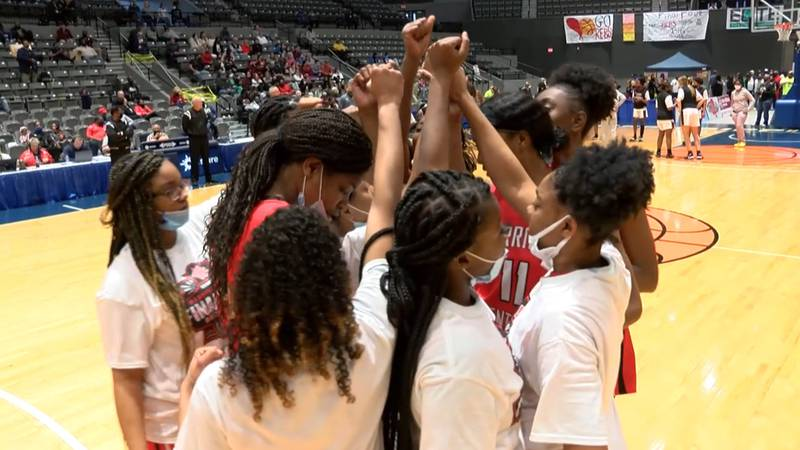 Both Harrison Central squads took to the court in the semi-finals