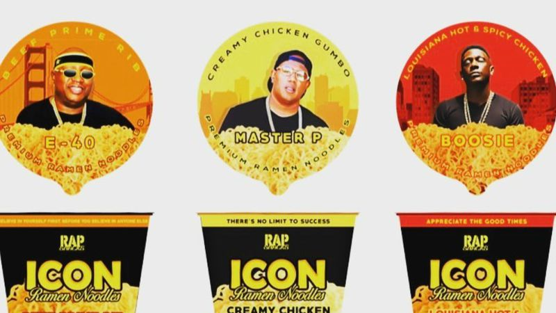 E-40 shared a picture of all three flavors of Rap Noodles, including beef prime rib, creamy...