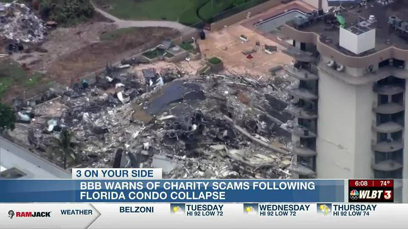 Miss. BBB warns of charity scams following FL condo collapse