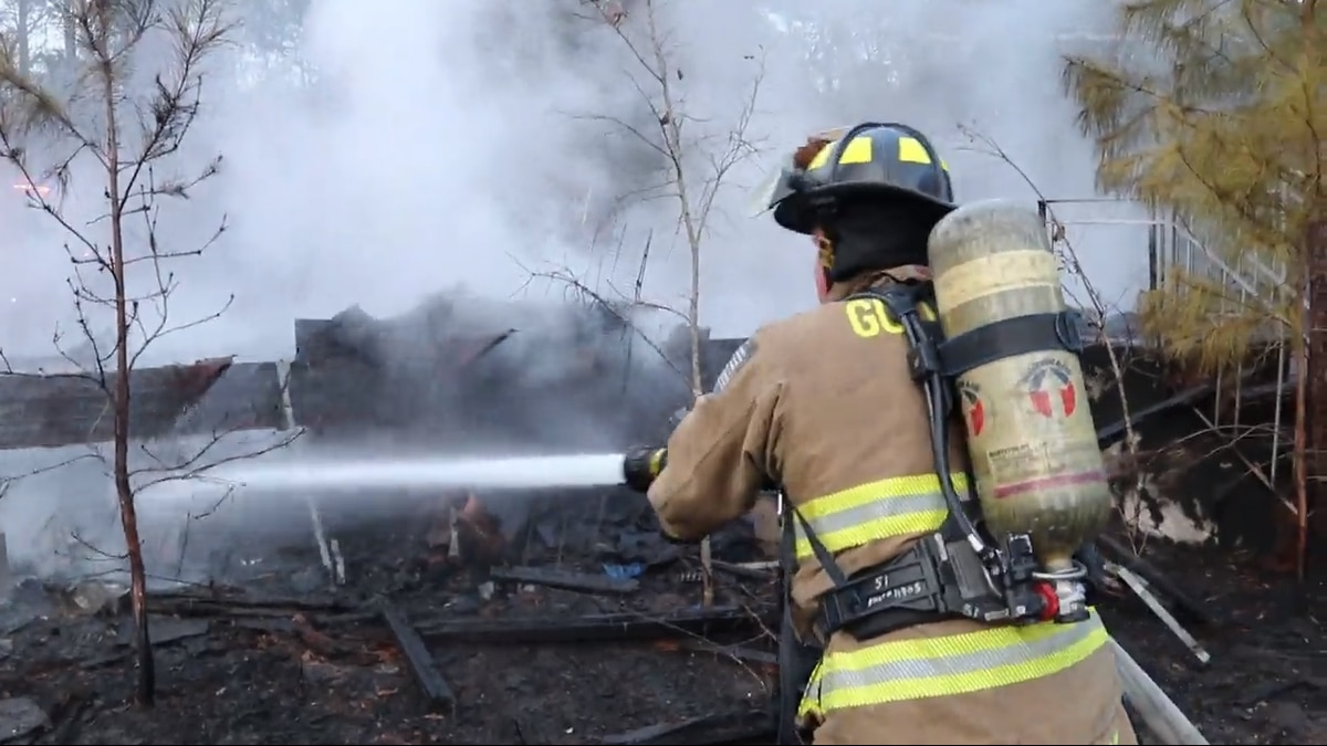 A vacant mobile home was destroyed by a fire that happened in Harrison County Sunday afternoon.