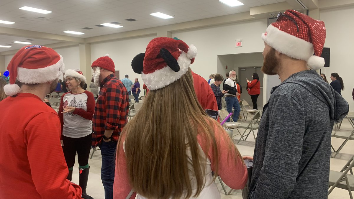 Volunteers with plenty of Christmas spirit lined up to help Feed The Needy in Harrison County