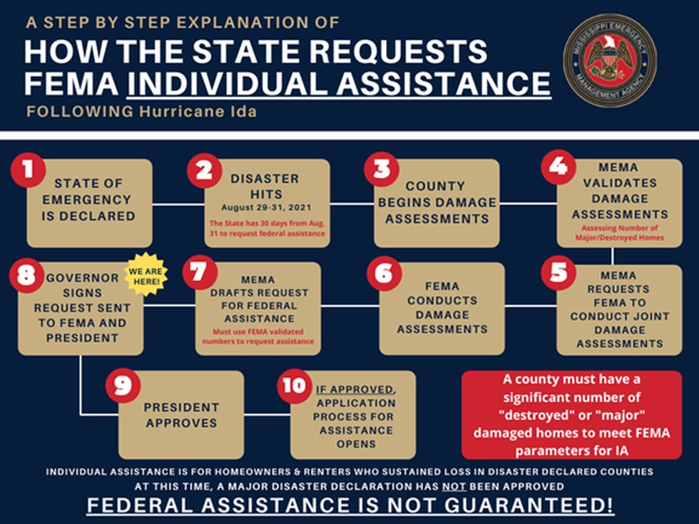 The federal assistance application is a 10 step process.