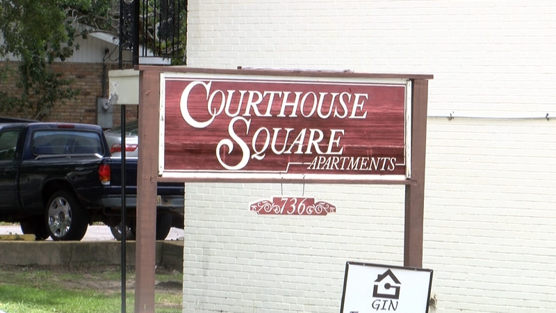 One tenant said water enters his two-bedroom apartment at Courthouse Square in Gulfport,...