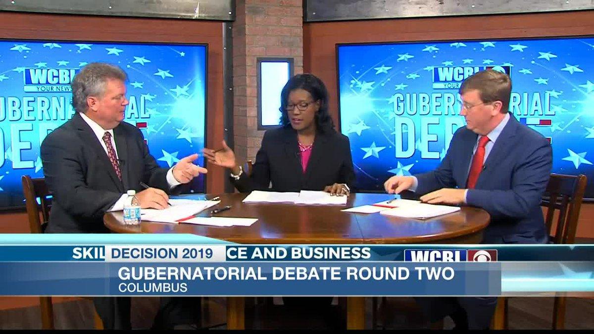 Tate Reeves and Jim Hood discuss education, taxes in second gubernatorial debate