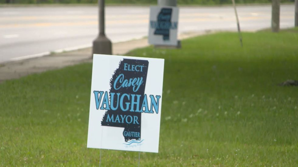 Casey Vaughan Campaign sign