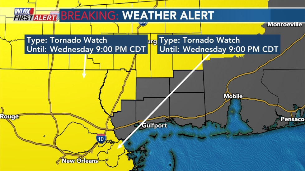 Wednesday's Tornado Watch 3/17/21