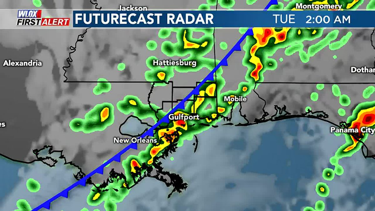 Strong cold front expected Monday night through Tuesday.