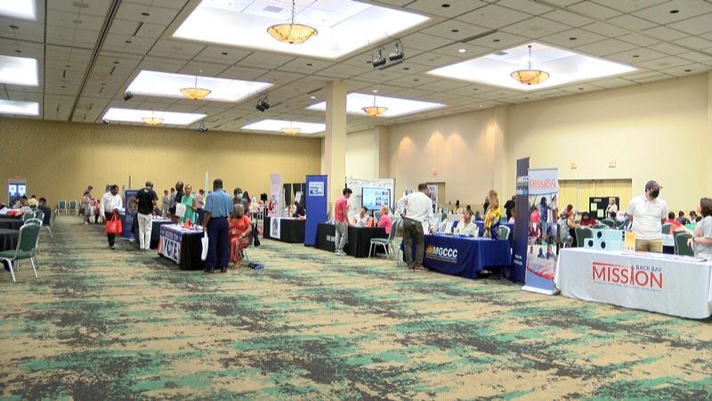 More than 50 employers and resource outlets filled the Mississippi Coast coliseum Tuesday for...