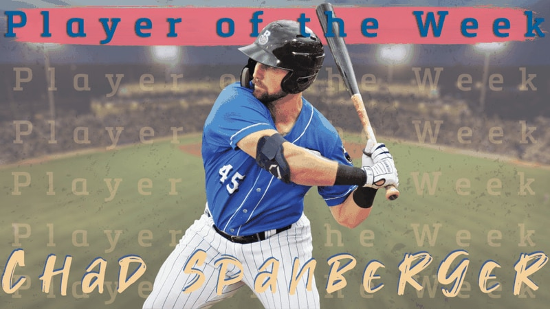 Chad Spanberger was named Double-A South Player of the Week.