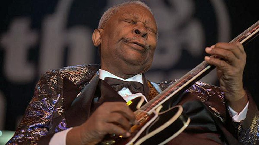 """B.B. King earned the title """"King of Blues"""" with his unique playing style and relentless touring..."""