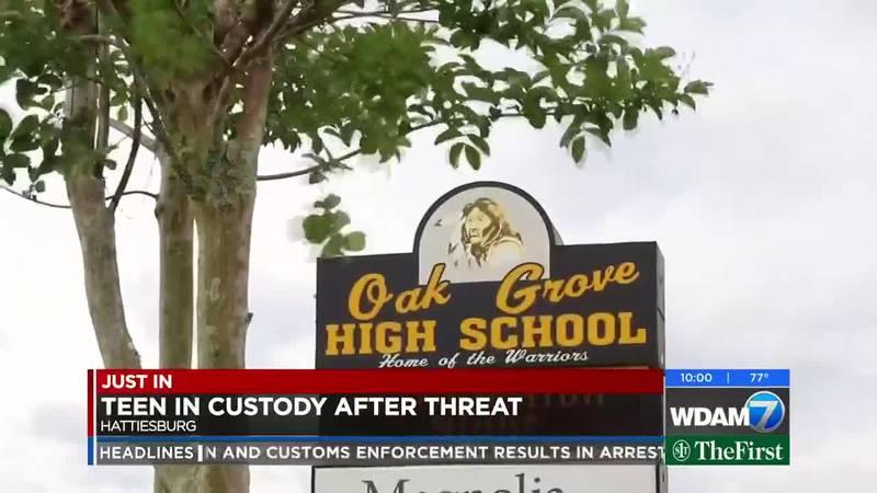 Teen in custody after threat toward Oak Grove High School