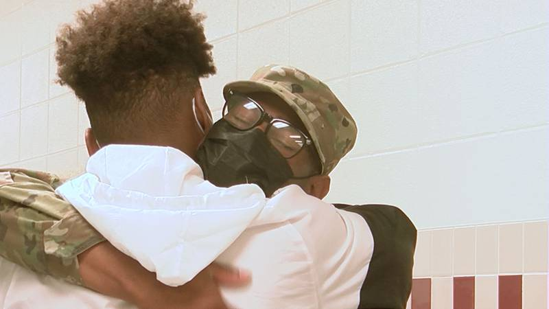 Nearly 7,173 miles couldn't keep Army soldier Charles Griffin away from his family in Pascagoula.